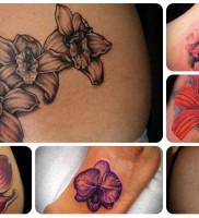 Значение татуировки орхидея — пример готовой тату
