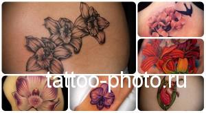 Значение татуировки орхидея - пример готовой тату