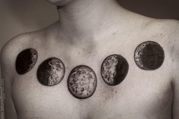 Значение татуировки с изображением луны — фото