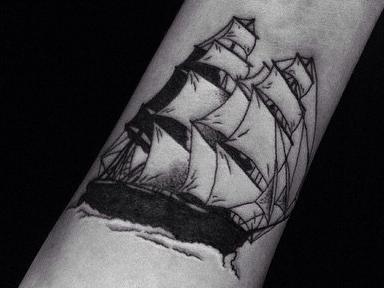 Значение тату «Корабль» - фото