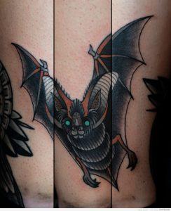 Значение тату «Летучая мышь» - фото