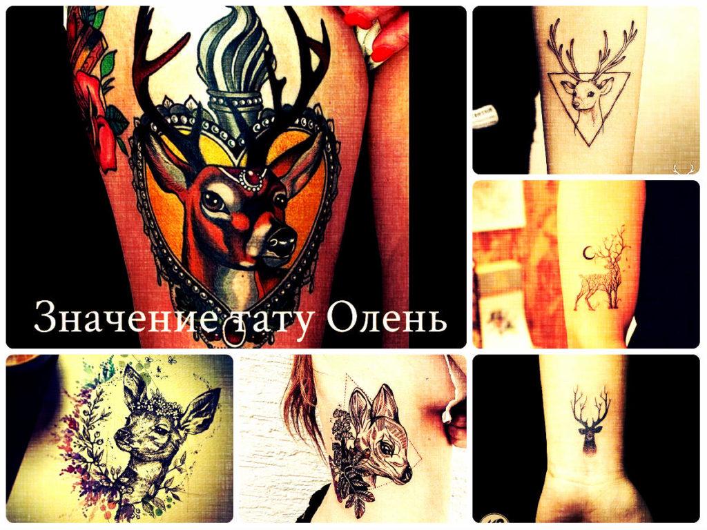 Значение тату Олень - коллекция фотографий с готовыми татуировками