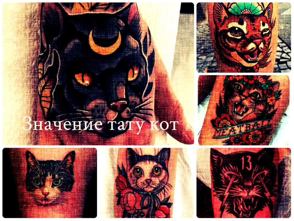Значение тату кот - фото коллекция рисунков готовых татуировок на теле