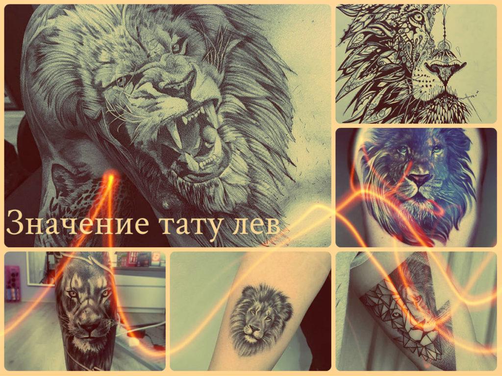 Значение тату лев - примеры интересных рисунков татуировки на фото