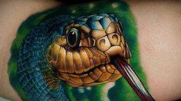 Что значит кобра в татуировке - фото