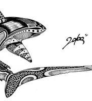 фото тату Акула от 15.11.2017 №075 — Shark Tattoo — tattoo-photo.ru