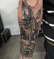 фото тату Анубис от 15.11.2017 №005 — Anubis tattoo — tattoo-photo.ru