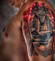 фото тату Анубис от 15.11.2017 №007 — Anubis tattoo — tattoo-photo.ru