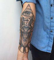 фото тату Анубис от 15.11.2017 №011 — Anubis tattoo — tattoo-photo.ru