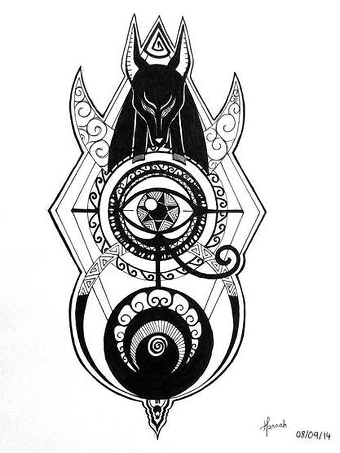 Images of Anubis Symbol Tattoos - #rock-cafe