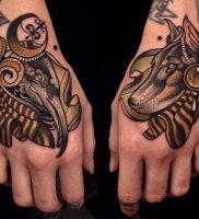 фото тату Анубис от 15.11.2017 №096 — Anubis tattoo — tattoo-photo.ru