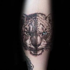фото тату Леопард от 18.11.2017 №081 - tattoo Leopard - tattoo-photo.ru