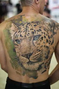 фото тату Леопард от 18.11.2017 №089 - tattoo Leopard - tattoo-photo.ru