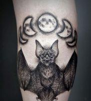 фото тату Летучая мышь от 19.11.2017 №002 — tattoo Bat — tattoo-photo.ru
