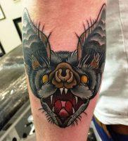 фото тату Летучая мышь от 19.11.2017 №008 — tattoo Bat — tattoo-photo.ru