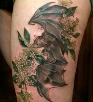 фото тату Летучая мышь от 19.11.2017 №017 — tattoo Bat — tattoo-photo.ru