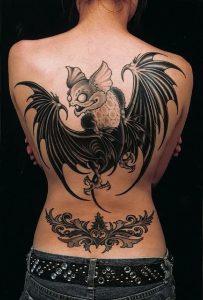 фото тату Летучая мышь от 19.11.2017 №019 - tattoo Bat - tattoo-photo.ru