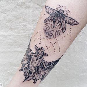 фото тату Летучая мышь от 19.11.2017 №058 - tattoo Bat - tattoo-photo.ru