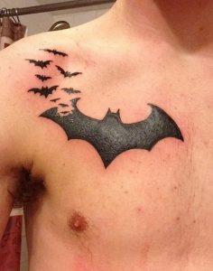 фото тату Летучая мышь от 19.11.2017 №067 - tattoo Bat - tattoo-photo.ru