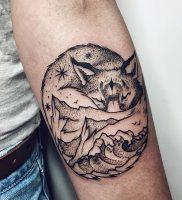 фото тату Лиса от 18.11.2017 №002 — Fox tattoo — tattoo-photo.ru