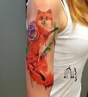 фото тату Лиса от 18.11.2017 №136 — Fox tattoo — tattoo-photo.ru