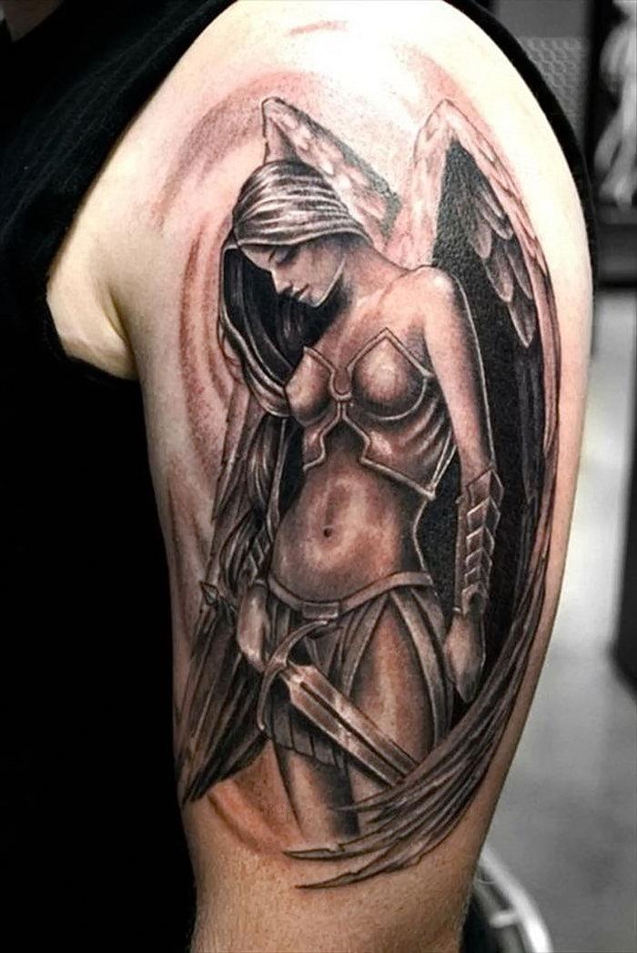 стенка тату ангелы фото женские великолепными видами, красивейший