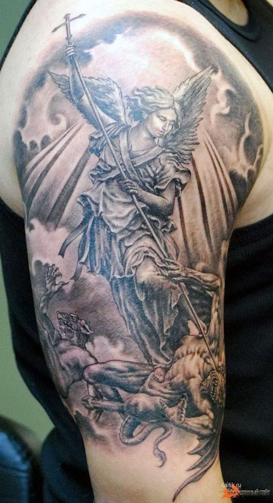 Фотографии архангела михаила тату