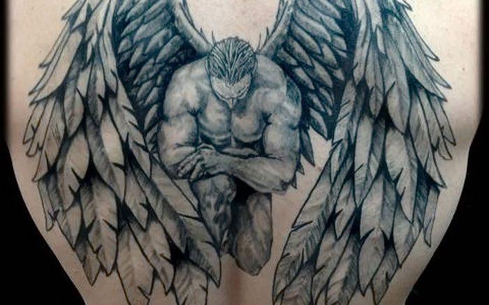 фото тату ангел от 14.11.2017 №049 - tattoo angel - tattoo-photo.ru