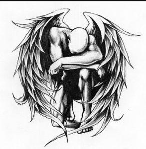 фото тату ангел от 14.11.2017 №068 - tattoo angel - tattoo-photo.ru