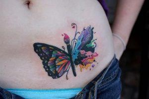 фото тату бабочка от 14.11.2017 №012 - butterfly tattoos - tattoo-photo.ru