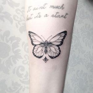 фото тату бабочка от 14.11.2017 №033 - butterfly tattoos - tattoo-photo.ru