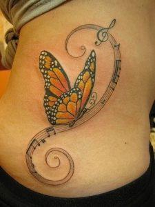 фото тату бабочка от 14.11.2017 №037 - butterfly tattoos - tattoo-photo.ru