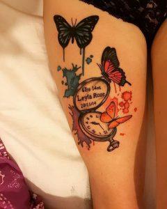 фото тату бабочка от 14.11.2017 №051 - butterfly tattoos - tattoo-photo.ru