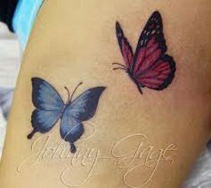 фото тату бабочка от 14.11.2017 №055 - butterfly tattoos - tattoo-photo.ru