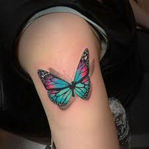 фото тату бабочка от 14.11.2017 №056 - butterfly tattoos - tattoo-photo.ru