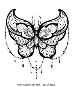 фото тату бабочка от 14.11.2017 №062 - butterfly tattoos - tattoo-photo.ru