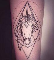 фото тату единорог от 14.11.2017 №005 — unicorn tattoo — tattoo-photo.ru