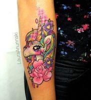 фото тату единорог от 14.11.2017 №007 — unicorn tattoo — tattoo-photo.ru