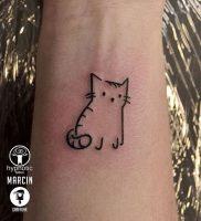 фото тату кошка от 19.11.2017 №001 — cat tattoo — tattoo-photo.ru