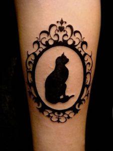 фото тату кошка от 19.11.2017 №002 - cat tattoo - tattoo-photo.ru