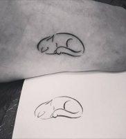 фото тату кошка от 19.11.2017 №007 — cat tattoo — tattoo-photo.ru