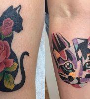 фото тату кошка от 19.11.2017 №009 — cat tattoo — tattoo-photo.ru