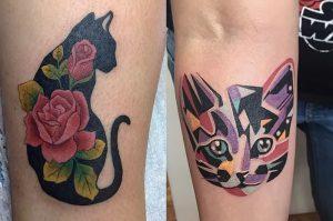 фото тату кошка от 19.11.2017 №009 - cat tattoo - tattoo-photo.ru