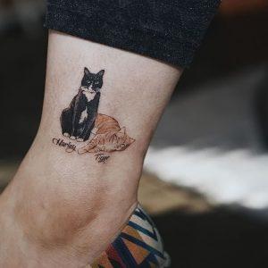 фото тату кошка от 19.11.2017 №017 - cat tattoo - tattoo-photo.ru