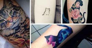фото тату кошка от 19.11.2017 №040 - cat tattoo - tattoo-photo.ru