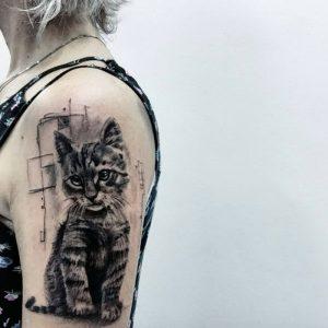фото тату кошка от 19.11.2017 №041 - cat tattoo - tattoo-photo.ru