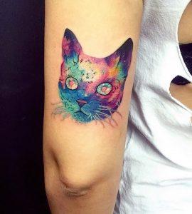фото тату кошка от 19.11.2017 №046 - cat tattoo - tattoo-photo.ru