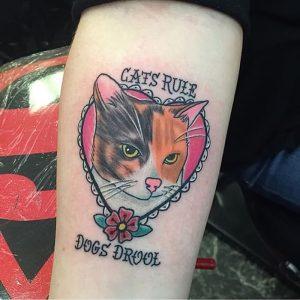фото тату кошка от 19.11.2017 №048 - cat tattoo - tattoo-photo.ru