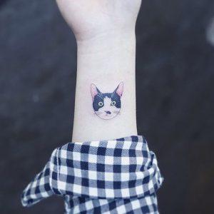 фото тату кошка от 19.11.2017 №054 - cat tattoo - tattoo-photo.ru