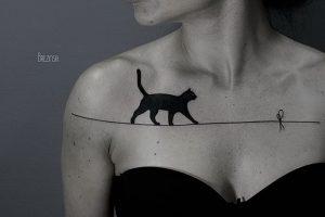 фото тату кошка от 19.11.2017 №057 - cat tattoo - tattoo-photo.ru